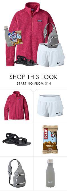 """tysm for all the likes on my last set!!"" by ellienoonan ❤ liked on Polyvore featuring Patagonia, NIKE, Chaco and S'well"