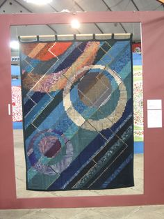 """My Quilt Diary: Tokyo Dome quilt show - part 2.  Emiko Toda Loeb always makes two-sided quilts. This is named """"Roundness""""."""