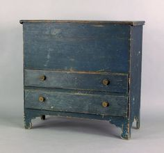 Lot:343: New England painted pine mule chest, late 18th c, Lot Number:343…