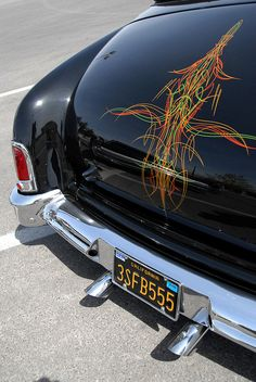 Old School Sled Pinstripe - Old Cars Automobiles
