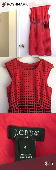 "💥FLASH SALE💥 J. Crew red & black polka dot dress NWOT (new without tags) never worn J. Crew dress. Really flattering. Bought it for an event that I didn't go to and it's just been sitting in my closet, plus it also doesn't fit me anymore (as you can see on the top half LOL). Could also fit a size 6. Back zipper closure. Measurements: 38.5"" long, shoulders measure 16"" flat. J. Crew Dresses Midi"