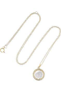 Ippolita Lollipop gold, diamond and quartz necklace