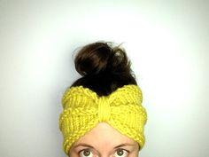 "How to Loom Knit a ""Bow"" Turban Headband / Ear warmer (DIY Tutorial)"