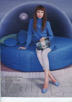 Elle France featured the Printed Leslie Pump Canvas Shoe by #AmericanApparel .  #shoes #medias #magazines #ELLE