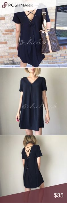 Reposh dress Really cute ! Just a tad long for ny taste. Im 5'0. Brand new with Tags never worn. Dresses Mini