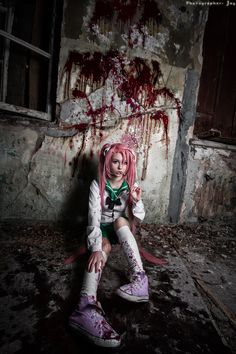 Saya Takagi from Highschool of the Dead. Cosplay by Alexia Muller.