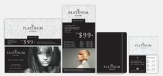 Client: Platinum Scissors | Services: Brochures, Corporate Identity, Flyers/Posters, Logo Design, Stationery, Style Guide | Industry: Hair & Beauty.