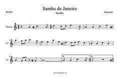 diegosax: Partitura de Samba de Janeiro de Bellini. Partitura para saxofón…