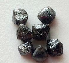 Black Rough Diamond Crystal Black Raw Diamond by gemsforjewels