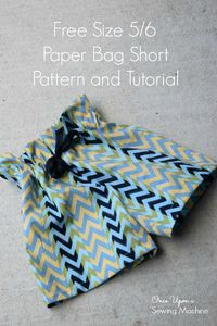 Paper Bag Shorts PDF Pattern and Tutorial : Free Size 5/6 - Once Upon a Sewing Machine
