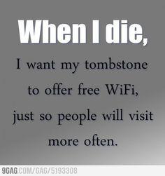 GREAT tombstone idea