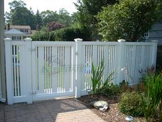 gate style - wide and skinny slat combination