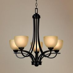 Franklin Iron Works Bennington Collection 5 Light Chandelier - possible new entry light