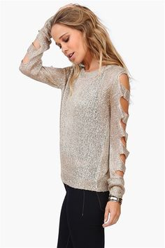 shimmering #cutout #sweater Get 8% cash back http://www.studentrate.com/itp/get-itp-student-deals/Necessary-Clothing-Student-Discount--/0
