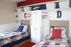 Pottery Barn-Inspired Boys Bedroom by The Everyday Home