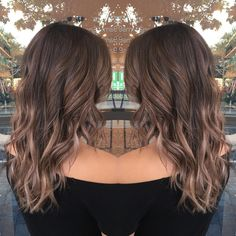 Soft cool brown balayage