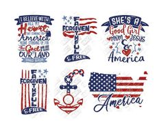 Fourth Of July Shirts, Patriotic Shirts, 4th Of July, Independence Day Usa, Monogram Shirts, Bullet Journal Themes, Illustrations, Cricut Design, Painted Rocks