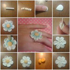 diy: fimo flower (daisy)