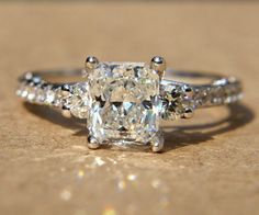 190 carats  RADIANT cut Diamond Engagement Ring  by BeautifulPetra