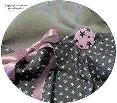 Stoffpakete - Stoffpaket♥Loop♥DIY Sterne(+Button&Schleife Winter - ein Designerstück von kreawusel-aufgehuebscht bei DaWanda