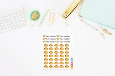 Yummy Taco Planner Stickers (41 Stickers) by TheCleverDesign on Etsy