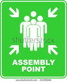 ASSEMBLY POINT, SIGN VECTOR  http://www.shutterstock.com/pic.mhtml?id=212365846