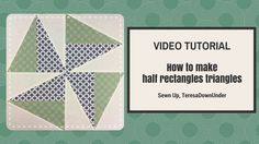 We all know about half square triangles but what about half rectangle triangles? This is how you make them! Pick any size and then trim them back to the same...