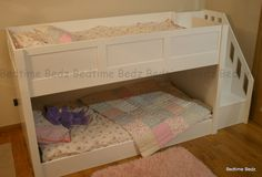 Dinky Staircase Bed - 122cm high, and option of 167cm long (mattress - bed is longer 222cm, due to stairs) - can have back panel and cotside, and be made higher too! £600