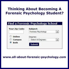 Forensic Psychology list of all college subjects