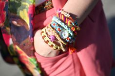 Glam Radar | Arm Party for Summer. The watch is great I think