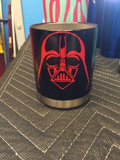Darth Vader Powder Coated Yeti  Low Ball  www.facebook.com/DoubleDironworks