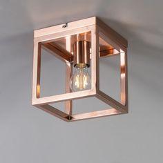 Plafond 'Cage 1' Moderna koppar - Passande för LED / Inomhus