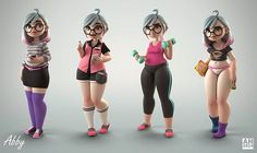Portfolio - Personal work. - Andrew Hickinbottom art. Really like this guys style. Large thighs. Different proportions. Attractive in it's distinct way. Amazing rendering too.