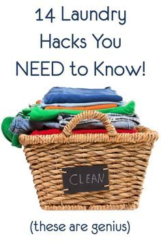 14 Laundry Hacks Everyone Should Know!