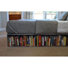 This. Is. Perfect. Books, shoes, clothes, anything can go underneath the bed to save space!