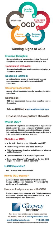 Obsessive-Compulsive Disorder (OCD) is a genetically-based anxiety disorder comprised of obsessions and compulsions that impacts over 2 million people in the US Obsessive Compulsive Disorder Ocd, Compulsive Behavior, Mental Health Illnesses, Mental Health Awareness, Mental Illness, Mental Disorders, Anxiety Disorder, Deal With Anxiety, Stress And Anxiety