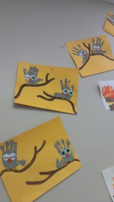 owl handprints arts and craft camping week theme