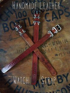 Full Grain Leather Watch Strap by Wirght and Rede