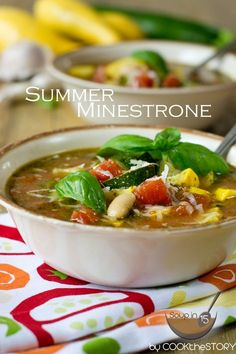 Summer Minestrone Soup Recipe | Cook the Story - Full of slow-simmered flavor (thanks to a secret ingredient!) yet this takes just 15 minutes!