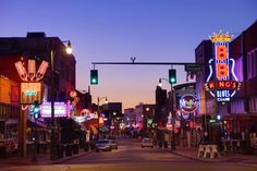 Beale Street: The History Behind the Memphis Party Scene Road Trip Destinations, Summer Bucket Lists, Travel Channel, Most Romantic, Natural Wonders, Night Life, The Neighbourhood, United States, States America