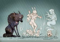 Chiara Bautista Wolf and bunny