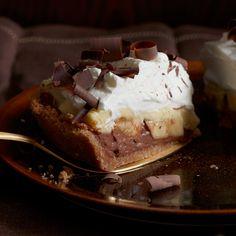 Black-Bottom Banana Cream Pie | This pie marries two already delicious pies: chocolate cream and banana cream.