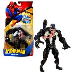 Hasbro Year 2010 Marvel Spider-Man Classic Heroes Series 7 Inch Tall Action Figure - Villain VENOM with Scorpion Stinger Tail