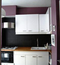 Un mur coloré dans la cuisine #vert #anis #bois #cuisine ...