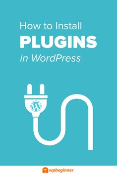 How to Install a WordPress Plugin. Step by Step for Beginners vía Do want to learn how to install a WordPress plugin? You can install a WordPress plugin using plugin search, upload a plugin, and manual FTP install method. Learn Wordpress, Wordpress Plugins, Wordpress Guide, Website Maintenance, Branding, Search Engine Optimization, Blogging For Beginners, Blog Tips, How To Start A Blog
