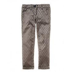 Pantalone in tessuto jacquard, tasche a filetto e vita regolabile all'interno. Fondo con risvolto.4FK2550W0 FANTASIA