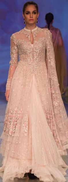 Trying to achieve that princess look for your sisters wedding? Then this pretty pastel pink jacket lehenga is the perfect pick for you. #frugal2fab