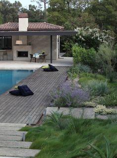 Garden around Pool deck