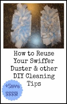 Swiffers and other disposable dusters/mop/cleaners are not great for the environment, but you can make them greener  (if you already have them).  Clean and reuse the disposable parts or invest in a microfiber replacement.  ...Recycle/Reuse  your Swiffer Duster Plus check our other DIY home cleaners!!