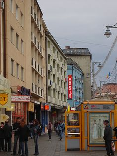 Downtown Targu-Mures, Romania.